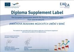 Diploma Suplement label - formát pdf